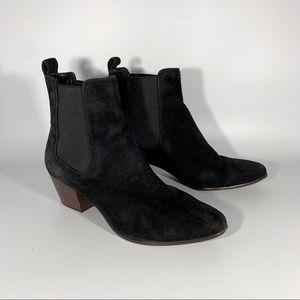 Sam Edelman Black Suede Ankle Boots
